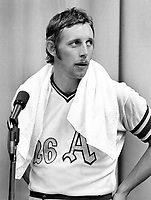 Oakland Athletics left fielder Joe Rudi, after beating the Cincinnati Reds in the World Series 1972.(photo/Ron Riesterer)