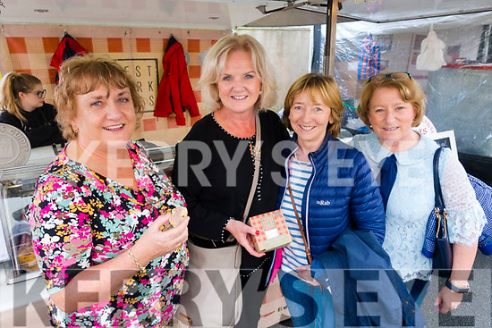 Mary Cotter, Vera O'Donovan, Theresa Harrington and Brenda O'Mahony, enjoying the Dingle Food Festival on Saturday afternoon last.