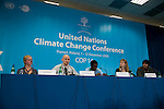 A joint press conference for the International Youth Delegates, organized by 350.org. UNFCCC COP 14 (©Robert vanWaarden ALL RIGHTS RESERVED)