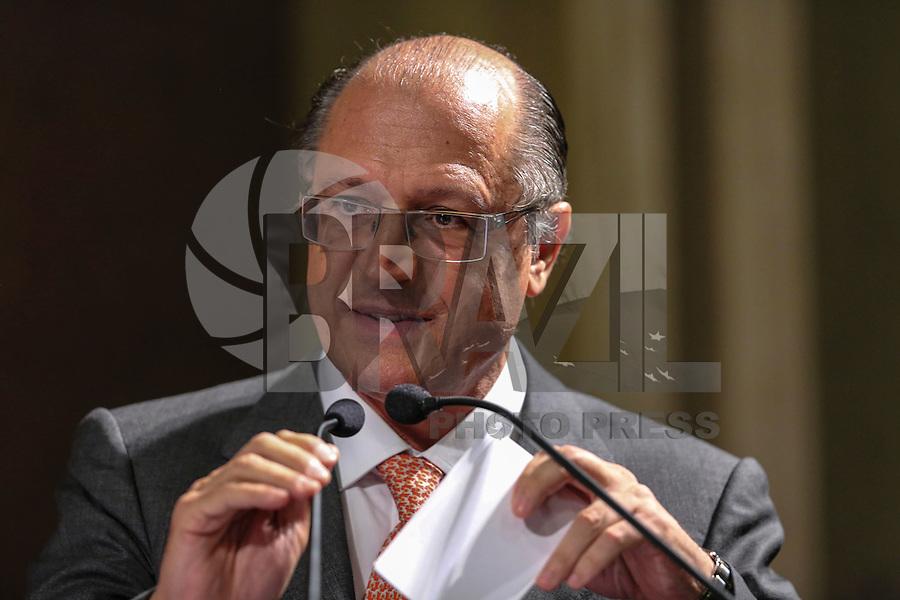 SAO PAULO, SP, 04 FEVEREIRO 2013 - ABERTURA DO ANO JUDICIARIO 2013 - Governador do Estado de Sao Paulo, Geraldo Alckmin durante Sessão de Abertura do Ano Judiciário de 2013 no Palácio da Justiça na região central da capital paulista, nesta segunda-feira, 04. (FOTO: VANESSA CARVALHO / BRAZIL PHOTO PRESS).