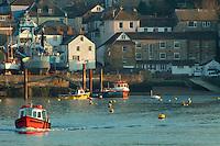 The Polruan Ferry linking Polruan with Fowey, Cornwall