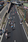 Still-Leben festival attracting 3 million spectators on closed A40 Motorway, Ruhr Area, Germany, part of the Ruhr.2010 celebrations