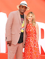 Samuel L. Jackson and Holly Hunter at the &quot;Incredibles 2&quot; UK film premiere, BFI Southbank, Belvedere Road, London, England, UK, on Sunday 08 July 2018.<br /> CAP/CAN<br /> &copy;CAN/Capital Pictures