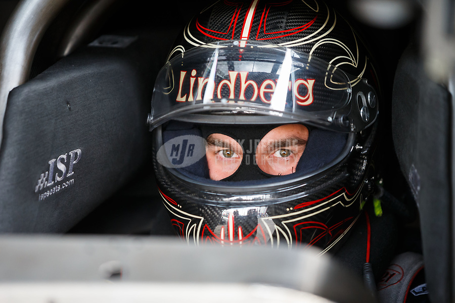 Aug 18, 2017; Brainerd, MN, USA; NHRA funny car driver Jonnie Lindberg during qualifying for the Lucas Oil Nationals at Brainerd International Raceway. Mandatory Credit: Mark J. Rebilas-USA TODAY Sports