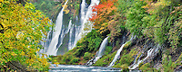 Burney Falls with fall color. McArthur-Burney Falls Memorial State Park. California