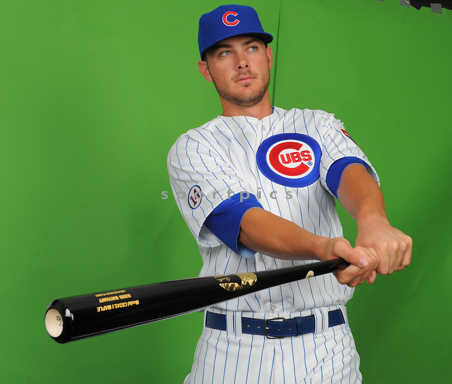 Chicago Cubs Kris Bryant (76) during photo day on March 2, 2015 in Mesa, AZ.