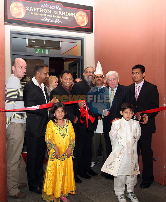 Opening of Saffron Indian Restaurant on Dyer Street...(Photo credit should read Jenny Matthews www.newsfile.ie)....This Picture has been sent you under the condtions enclosed by:.Newsfile Ltd..The Studio,.Millmount Abbey,.Drogheda,.Co Meath..Ireland..Tel: +353(0)41-9871240.Fax: +353(0)41-9871260.GSM: +353(0)86-2500958.email: pictures@newsfile.ie.www.newsfile.ie.