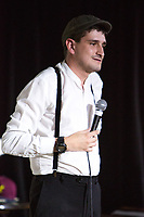 14th July 2019: Comedian Jack Gleadow performs his show 'Mr Saturday Night ' on day 2 of the 2019 Comedy Crate Festival, Northampton.