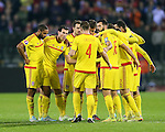 The Welsh team celebrate at the final whistle<br /> <br /> - European Qualifier - Belgium vs Wales- Heysel Stadium - Brussels - Belgium - 16th November 2014  - Picture David Klein/Sportimage