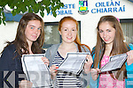 Meghan Brennan Castleisland, Erin O'Connor Currow and Amber O'Donoghue Castleisland celebrate their junior cert results at Castleisland Community College on Wednesday
