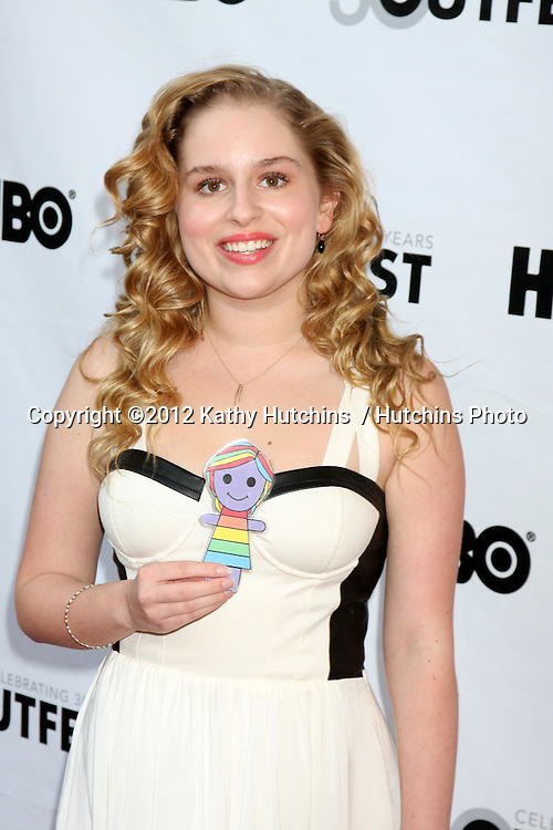 """LOS ANGELES - JUL 22:  Allie Grant arrives agt the 2012 Outfest Closing Night Gala of """"STRUCK BY LIGHTNING"""" at J.A. Ford Amphitheatre on July 22, 2012 in Los Angeles, CA"""