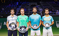 Rotterdam, The Netherlands, 17 Februari 2019, ABNAMRO World Tennis Tournament, Ahoy, Final, Doubles, <br /> Jeremy Chardy (FRA) / Henri Kontinen (FIN) winners vs Jean-Julien Rojer (NED) / Horia Tecau (ROU), <br /> Photo: www.tennisimages.com/Henk Koster