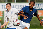 Soccer, UEFA U-17.France Vs. England.Bradley Smith, left and Sebastien Haller.Indjija, 03.05.2011..foto: Srdjan Stevanovic