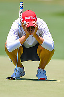 Carlota Ciganda (ESP) looks hard at her upcoming birdie attempt on 4 during round 3 of the 2019 US Women's Open, Charleston Country Club, Charleston, South Carolina,  USA. 6/1/2019.<br /> Picture: Golffile | Ken Murray<br /> <br /> All photo usage must carry mandatory copyright credit (© Golffile | Ken Murray)