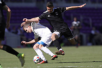 Orlando, Florida - Monday January 15, 2018: Alex Roldan and Brian Iloski. Match Day 2 of the 2018 adidas MLS Player Combine was held Orlando City Stadium.