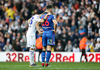 Bolton Wanderers' Pawel Olkowski is consoled by  Leeds United's Mateusz Klich at the end of the match<br /> <br /> Photographer Andrew Kearns/CameraSport<br /> <br /> The EFL Sky Bet Championship - Leeds United v Bolton Wanderers - Saturday 23rd February 2019 - Elland Road - Leeds<br /> <br /> World Copyright © 2019 CameraSport. All rights reserved. 43 Linden Ave. Countesthorpe. Leicester. England. LE8 5PG - Tel: +44 (0) 116 277 4147 - admin@camerasport.com - www.camerasport.com