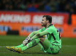 Andy Lonergan of Bolton Wanderers sits in dejection - FA Cup Fourth Round replay - Bolton Wanderers vs Liverpool - Macron Stadium  - Bolton - England - 4th February 2015 - Picture Simon Bellis/Sportimage