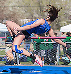 Lowrey's Shelley Garrison competes in the girls high jump during the Reed Sparks Rotary Invitational track and field event at Reed High School in Sparks, Saturday, April 1, 2017.