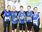carina Bowens, Linda Monaghan, Linda Lee, Sharon Kiernan and Deirdre Farrell who took part in the Duleek & District 5K run. Photo:Colin Bell/pressphotos.ie