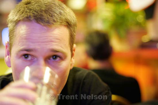 Trent Nelson at Red Iguana. Photo by Lucas Gilman<br />