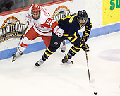 Chris Connolly (BU - 12), Jordan Heywood (Merrimack - 4) - The visiting Merrimack College Warriors tied the Boston University Terriers 1-1 on Friday, November 12, 2010, at Agganis Arena in Boston, Massachusetts.