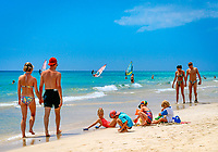 Spanien, Kanarische Inseln, Fuerteventura, Costa Calma, Monica Beach, Strandlurlaub | Spain, Canary Island, Fuerteventura, Costa Calma, Monica Beach, beach holiday