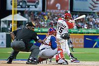 7 March 2009:  #15 Carlos Beltran of Puerto Rico hits the ball during the 2009 World Baseball Classic Pool D match at Hiram Bithorn Stadium in San Juan, Puerto Rico. Puerto Rico wins 7-0 over Panama.
