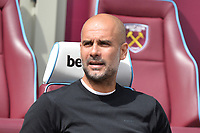 Manchester City manager Pep Guardiola during West Ham United vs Manchester City, Premier League Football at The London Stadium on 10th August 2019