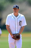 Detroit Tigers pitcher Casey Crosby #45 during a minor league Spring Training game against the Washington Nationals at Tiger Town on March 22, 2013 in Lakeland, Florida.  (Mike Janes/Four Seam Images)