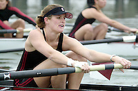 REDWOOD SHORES, CA - JANUARY 2002:  Louisa Marion of the Stanford Cardinal during practice in January 2002 in Redwood Shores, California.