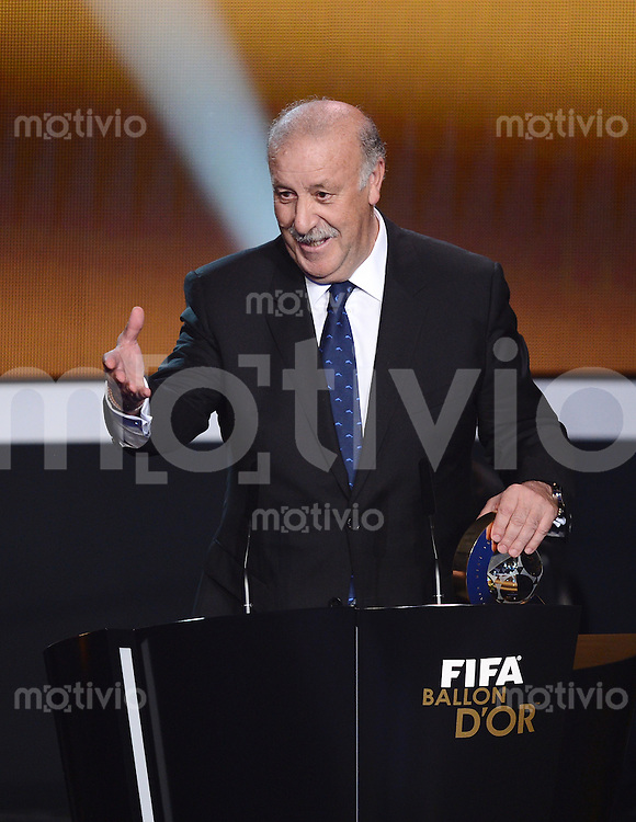 Fussball International  FIFA Ballon d Or   07.01.2013  Trainer des Jahres Vicente del Bosque (Spanien)