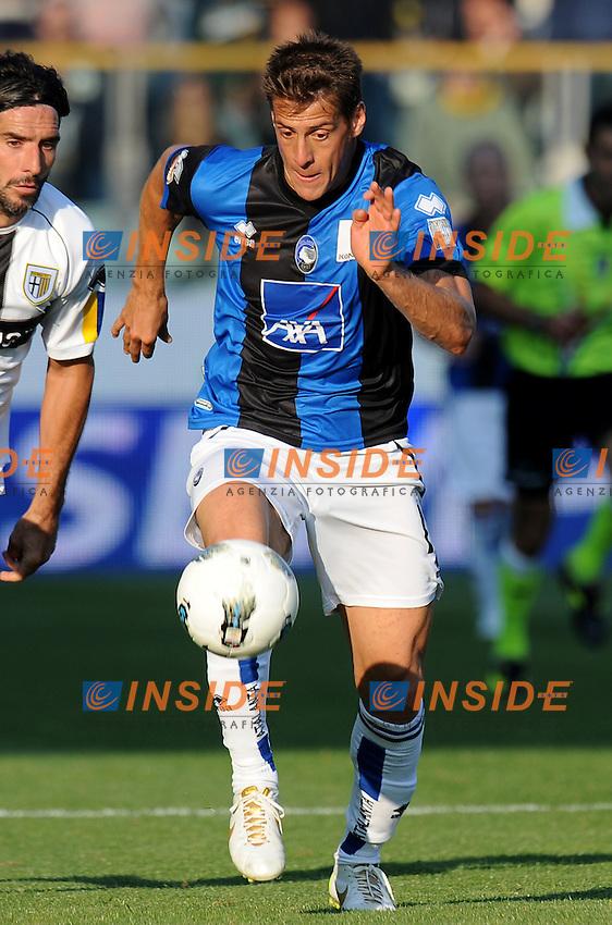 "German DENIS  (Atalanta).Parma 23/10/2011 Stadio ""Ennio Tardini"".Serie A 2011/2012.Football Calcio Parma Vs Atalanta.Foto Insidefoto Alessandro Sabattini."