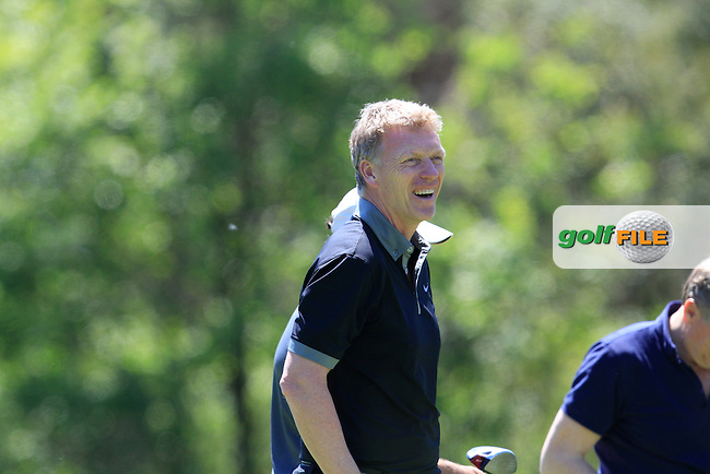 David Moyes (Am) on the 18th tee during the Pro-Am in The Open De Espana at The PGA Catalunya Resort on Wednesday 14th May 2014.<br /> Picture:  Thos Caffrey / www.golffile.ie