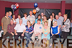 50TH: Kevin Cunningham, Kerins Park, Tralee (seated 4th from left) celebrated his 50th birthday at O'Donnell's Bar and Restaurant,.Mounthawk, on Saturday night last, where he partied with the night away with his family and friends. Front row l-r: John Duggan,.Dominic, Tracy, Kevin (birthday boy), Joan and Catherine Cunningham. Middle row l-r: Vincent and Breda Murphy, Mary and Brendan.Brennan, Catherine Duggan, Liz and Paul Cunningham, Leslie Dowling, Michael Horgan, Phyllis and Brendan McCormack and Debra.Cunningham. Back row l-r: Liam Hobbert, Paula and Michael Duggan.