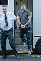 Pictured: Christopher Kerrell being led by security staff into Merthyr Tydfil Crown Court. Friday 02 November 2018<br /> Re: Christopher Llewellyn Kerrell, 35 is due to be sentenced by Merthyr Crown Court after admitting murdering his wife Hollie Kerrell.<br /> The body of the 28 year old mother of three was found in April 2018, four days after going missing from her farm house home near Knighton, mid Wales.<br /> Kerrell, from Whitton near Knighton pleaded guilty at Merthyr Crown Court.<br /> Judge Mr Justice Morris told Kerrell, to be expect to be jailed for life.<br /> The body of Ms Kerrell, also of Knighton, was discovered at a farm on Thursday.