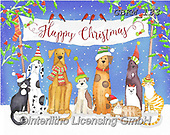 Kate, CHRISTMAS ANIMALS, WEIHNACHTEN TIERE, NAVIDAD ANIMALES, paintings+++++Christmas page 105 1,GBKM133,#xa# ,dog,dogs