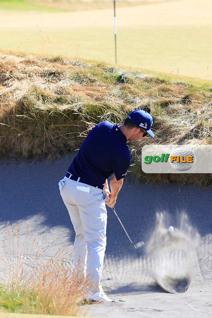 Matt Every (USA) chips out of a bunker at the 17th green during Friday's Round 2 of the 2015 U.S. Open 115th National Championship held at Chambers Bay, Seattle, Washington, USA. 6/20/2015.<br /> Picture: Golffile | Eoin Clarke<br /> <br /> <br /> <br /> <br /> All photo usage must carry mandatory copyright credit (&copy; Golffile | Eoin Clarke)