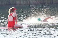 Rettungskräfte bei den Schwimmern im Badesee Walldorf - Mörfelden-Walldorf 15.07.2018: 10. MöWathlon