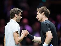 Februari 13, 2015, Netherlands, Rotterdam, Ahoy, ABN AMRO World Tennis Tournament, Andy Murray (GBR) - Gilles Simon (FRA)<br /> Photo: Tennisimages/Henk Koster