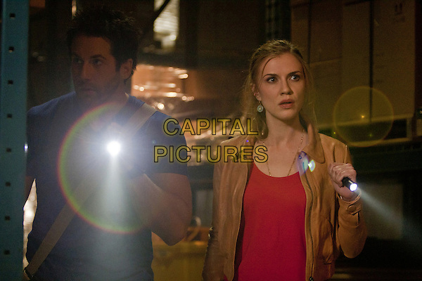 Niall Matter, Sara Canning<br /> in Primeval: New World (2012) <br /> *Filmstill - Editorial Use Only*<br /> CAP/FB<br /> Image supplied by Capital Pictures
