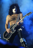 12/18/03 Inglewood, CA:  Paul Stanley and KISS perform at the LA Forum