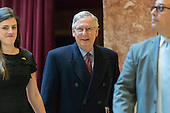Senate Majority Leader Mitch McConnell is seen upon his arrival at Trump Tower in New York, NY, USA on January, 9, 2017.<br /> Credit: Albin Lohr-Jones / Pool via CNP