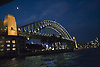 Sydney Harbour Bridge lit at night, Australia