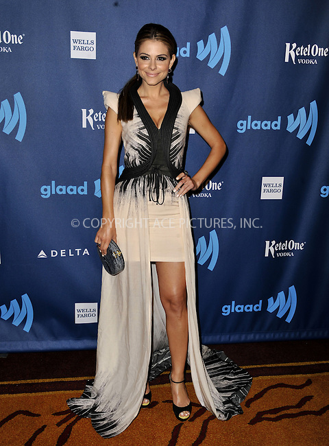 WWW.ACEPIXS.COM......April 20, 2013, Los Angeles, CA.....Maria Menounos arriving at the 24th Annual GLAAD Media Awards held at the JW Marriott Los Angeles at L.A. LIVE on April 20, 2013 in Los Angeles, California. ..........By Line: Peter West/ACE Pictures....ACE Pictures, Inc..Tel: 646 769 0430..Email: info@acepixs.com