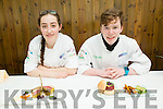 Aicha Vandaele and Padraic Randals from Pobalscoil Inbhear Sceine, Kenmare at the ITT Apprentice Chef finals on Friday