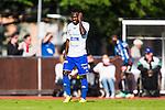 Uppsala 2014-06-26 Fotboll Superettan IK Sirius - IFK V&auml;rnamo :  <br /> V&auml;rnamos Herve Tchami deppar efter Sirius Moses Ogbu gjort 1-0<br /> (Foto: Kenta J&ouml;nsson) Nyckelord:  Superettan Sirius IKS Studenternas IFK V&auml;rnamo depp besviken besvikelse sorg ledsen deppig nedst&auml;md uppgiven sad disappointment disappointed dejected
