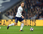 Christian Eriksen of Tottenham Hotspur during the premier league match at the Wembley Stadium, London. Picture date 14th April 2018. Picture credit should read: Robin Parker/Sportimage