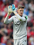 Crystal Palace's Wayne Hennessey in action during the premier league match at the Anfield Stadium, Liverpool. Picture date 19th August 2017. Picture credit should read: David Klein/Sportimage