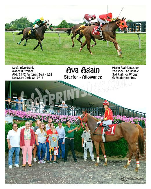 Ava Again winning at Delaware Park on 8/10/15