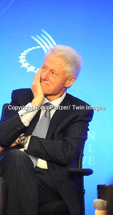 President Bill Clinton speaks at the Press Conference at the Clinton Global Initiative focusing on the  Special Olympics to announce funding to expand Health Services Worldwide on September 23, 2012 at The Sheraton Hotel in New York City.